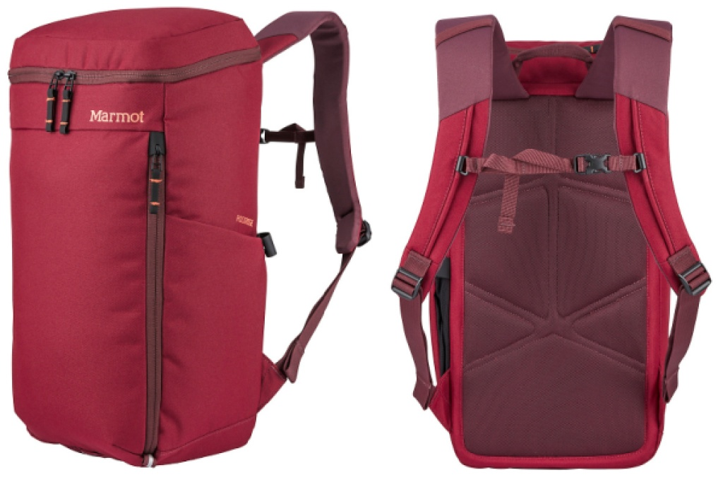 marmot rockridge backpack in maroon