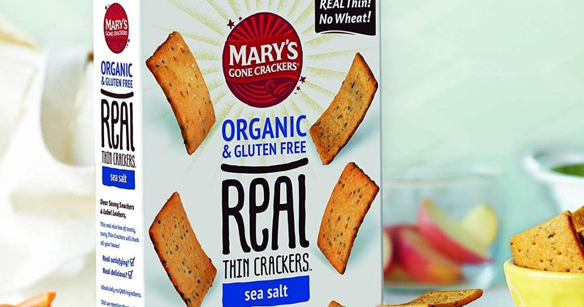 mary's gone crackers box