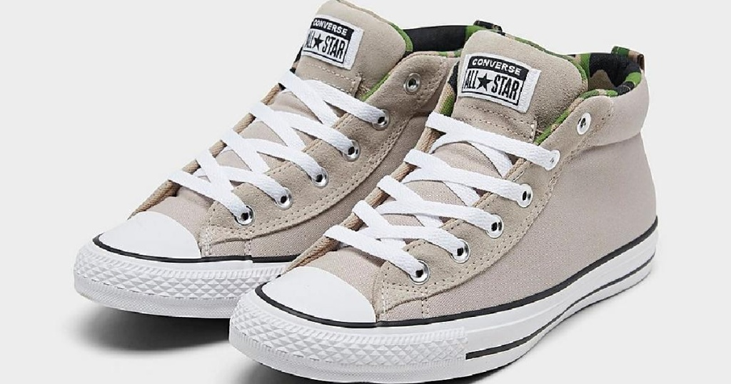 mens converse tan with camo