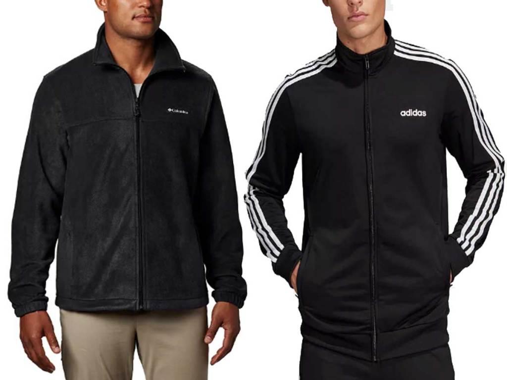 men's fleece and track jacket