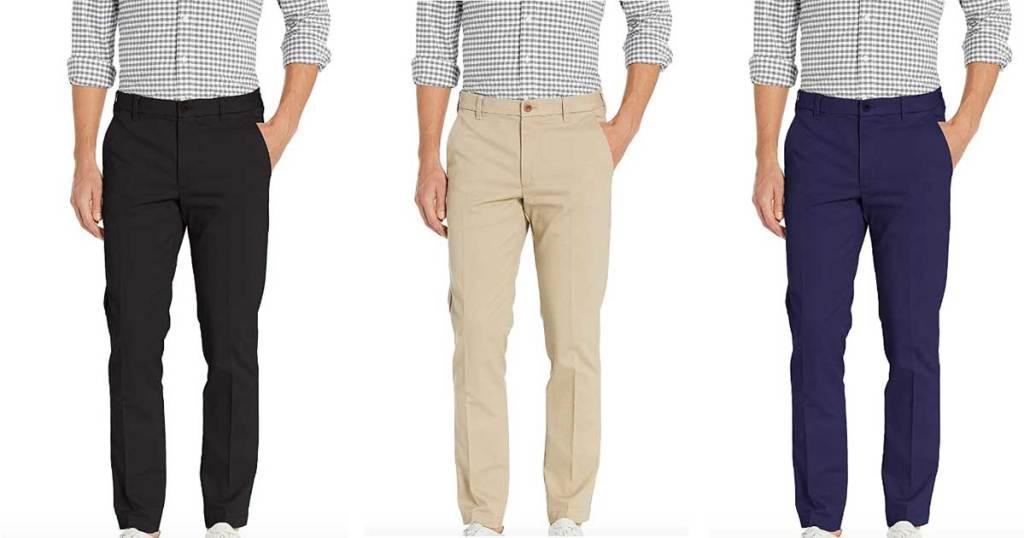 men's dress pants in three colors