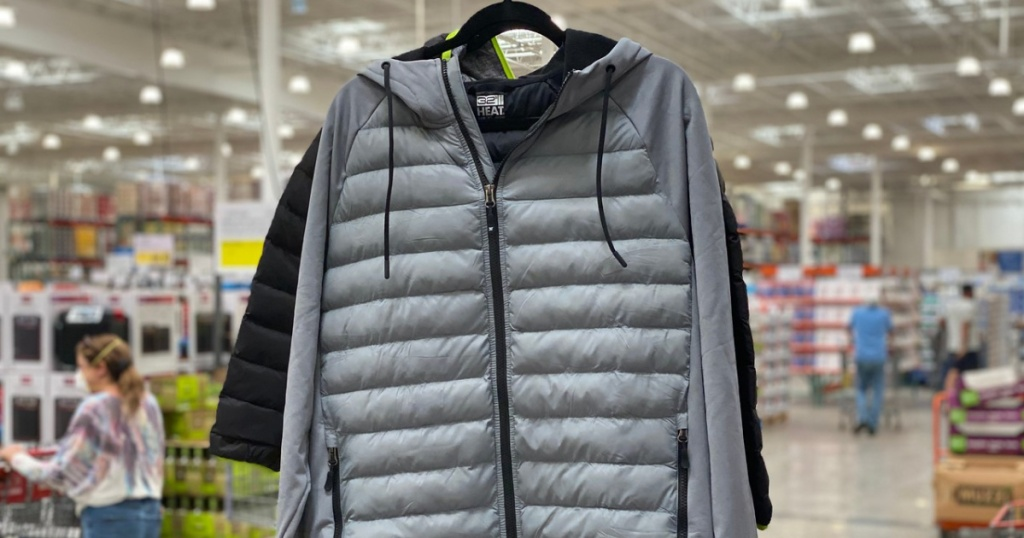 mens sized jackets hanging in store