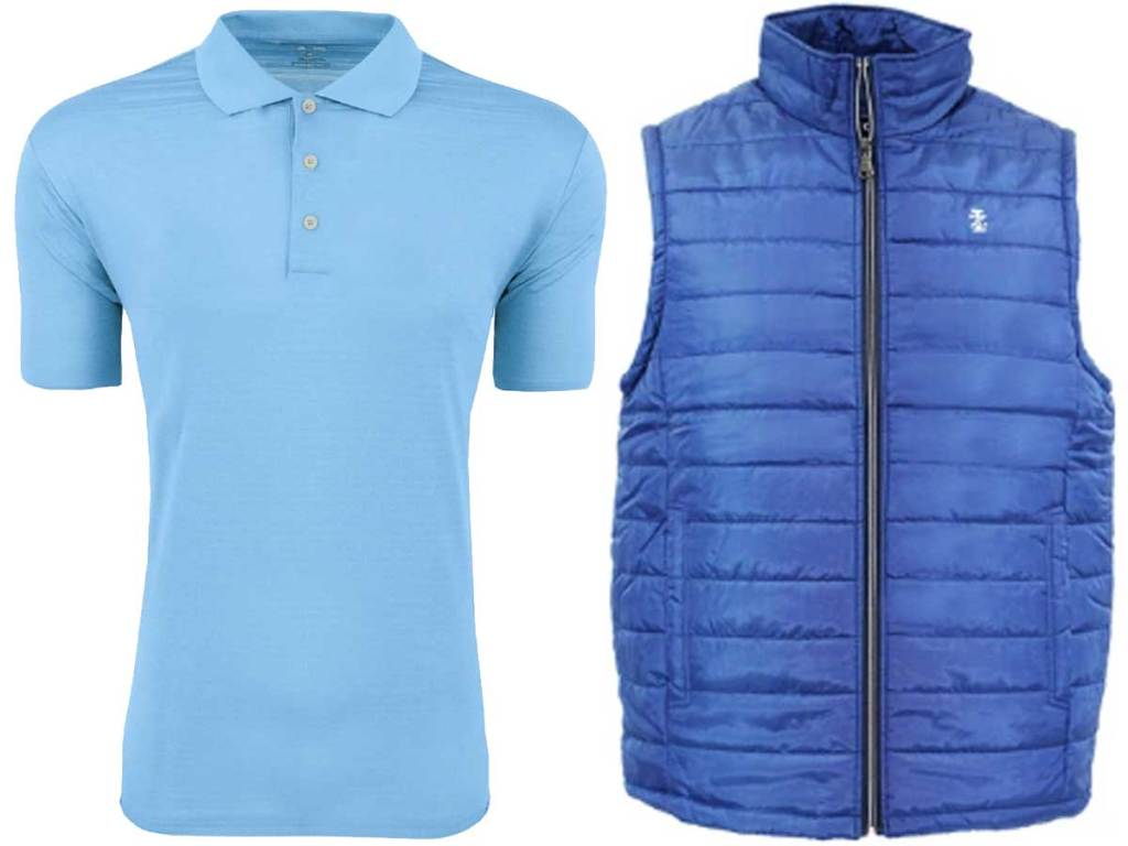 men's polo shirt and vest