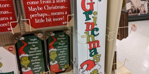 40% Off Grinch-Themed Christmas Decor at Hobby Lobby | In-Store & Online