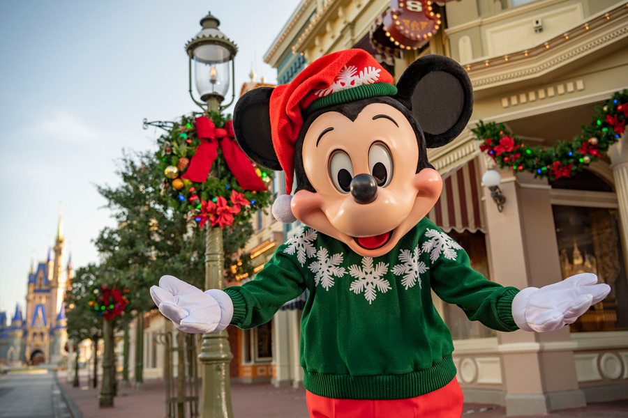 mickey mouse christmas in holiday sweater