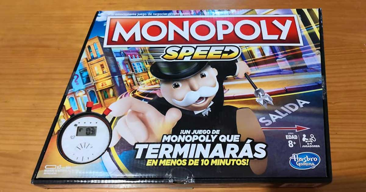 monopoly speed game on table