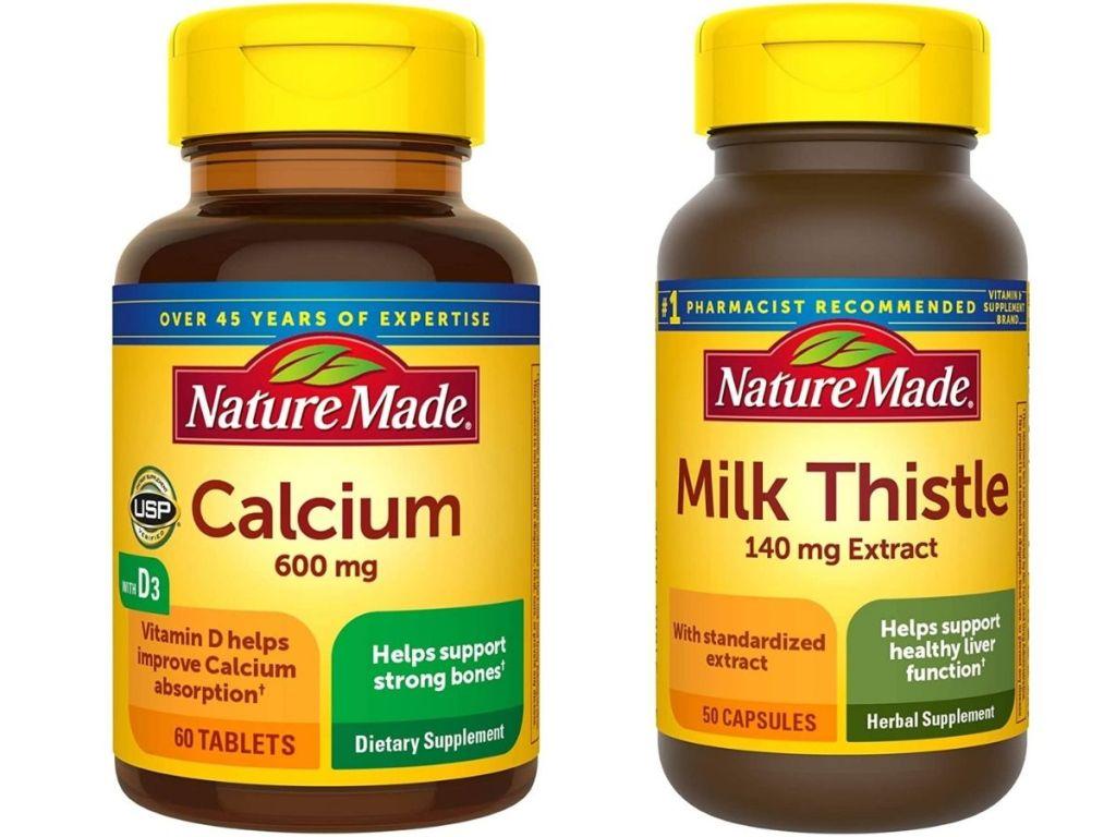 Nature Made Calcium and Milk Thistle Vitamins
