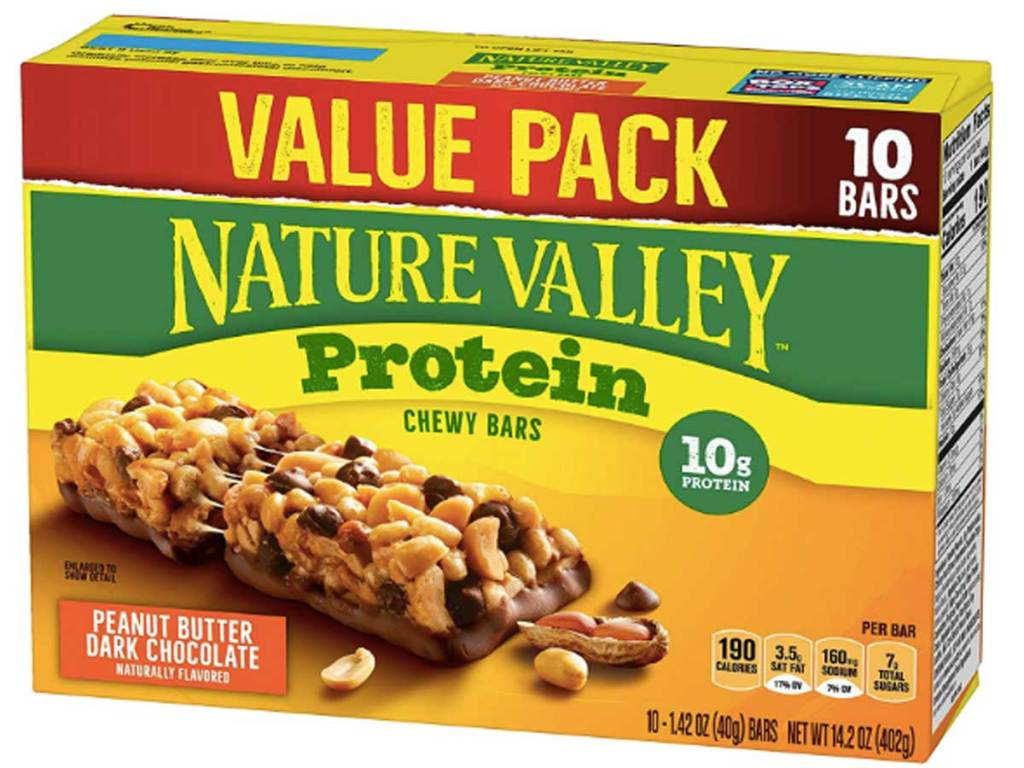 box of protein bars
