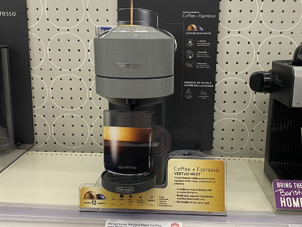 coffee machine on display in store