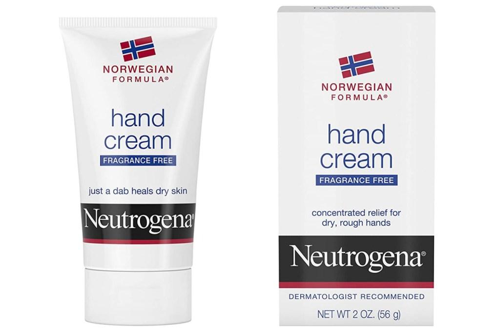 neutrogena hand cream in box and bottle