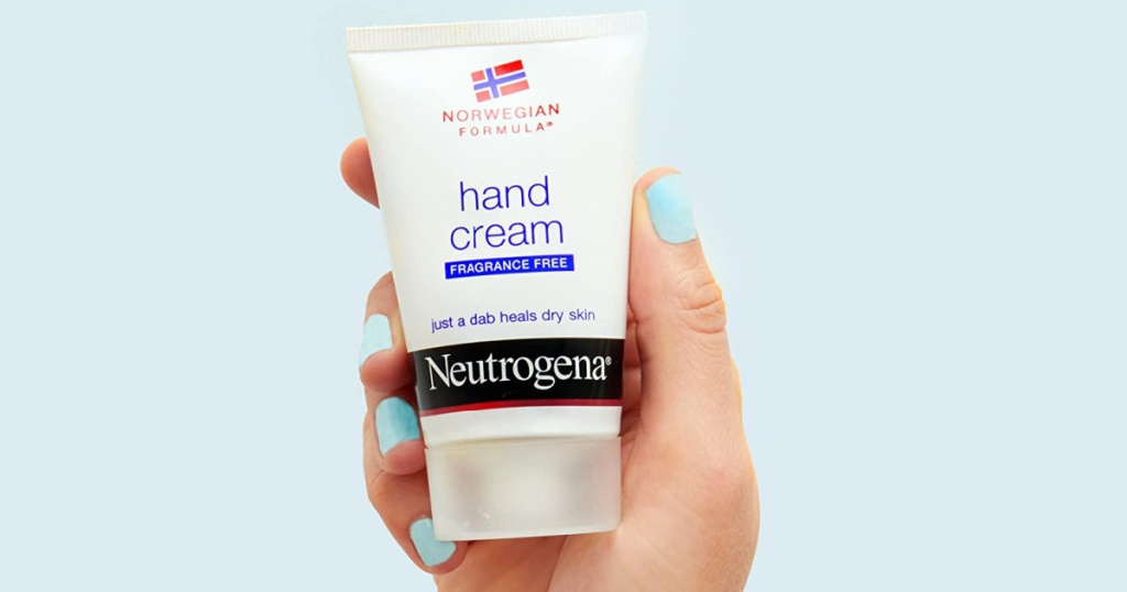 neutrogena norweigian hand cream in hand