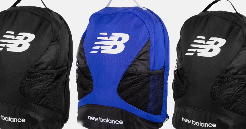 new balance backpacks black and blue