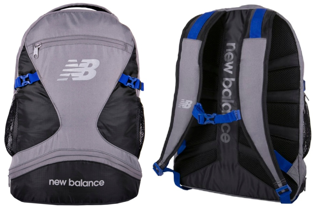 new balaance grey backpack front and back