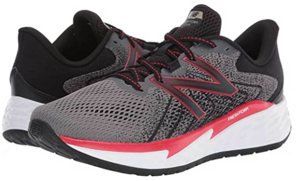 new balance black and red shoes