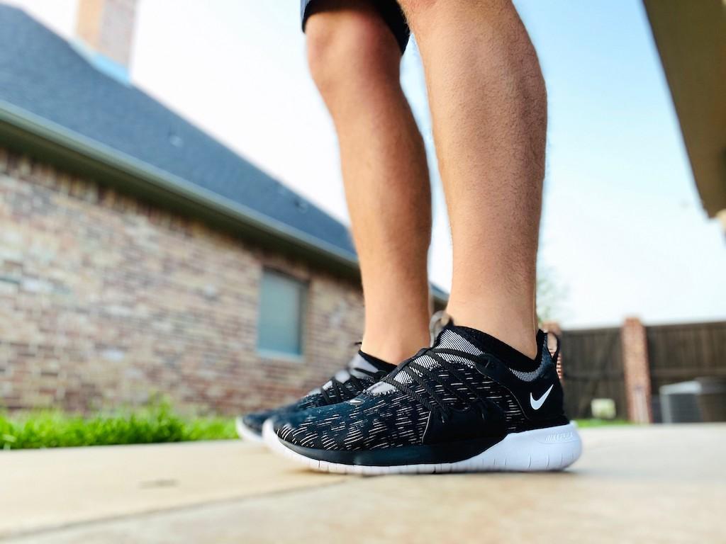 man wearing Nike shoes