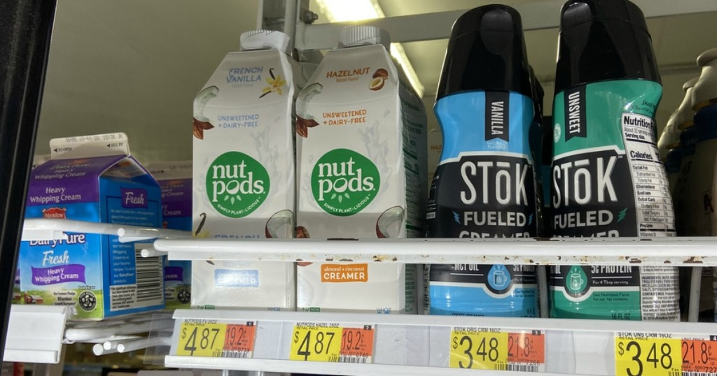 nutpods creamer in dairy case in-store