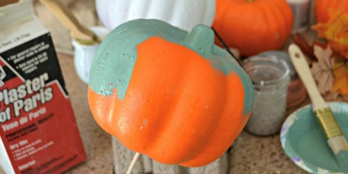 Dollar Tree DIY – Make These Easy Painted Pumpkins for Frugal Fall Decor!