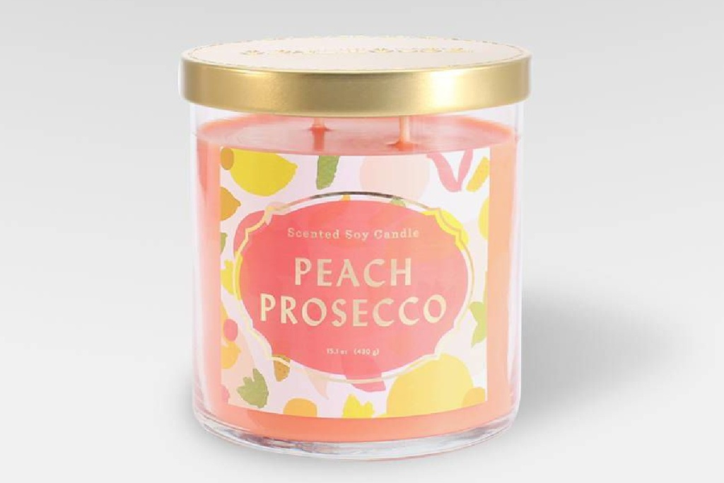peach prosecco candle target