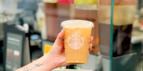 Peach Ring Gummies in a Starbucks Cup – This Secret Menu Drink is Amazing!