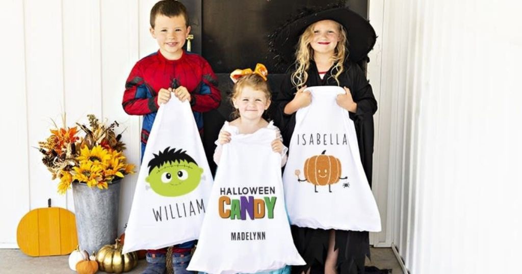 Personalized Halloween Treat Bags