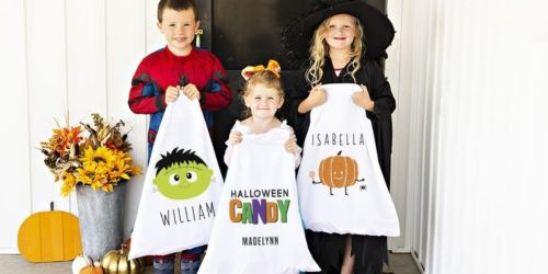 Halloween Pillowcase Treat Bags Just $9.99 + Free Shipping & Personalization (Regularly $24.99)