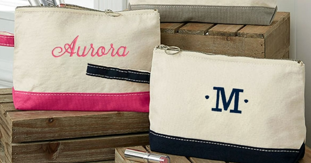 personalized wristlet two bags