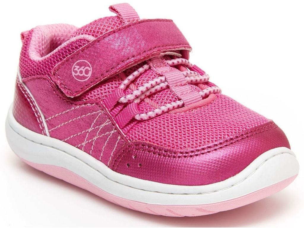 pink girls stride right sneakers
