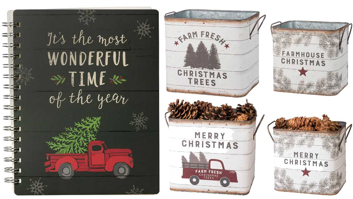christmas planner and holiday bins