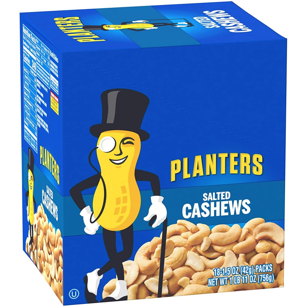 planters box of cashews