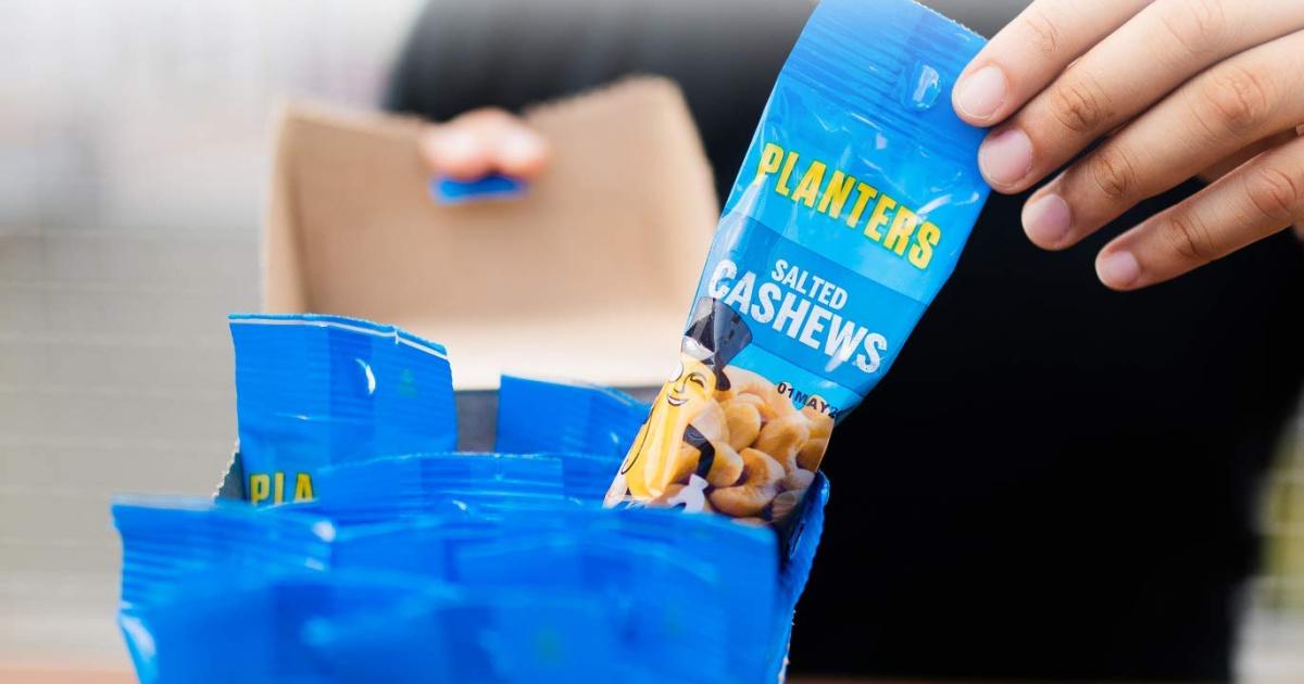 planters cashews individual packs