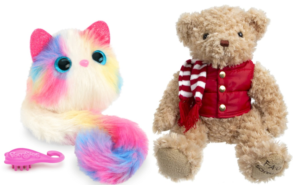 pomsies and FAO Schwarz 12-inch Anniversary Bear Toy Plush