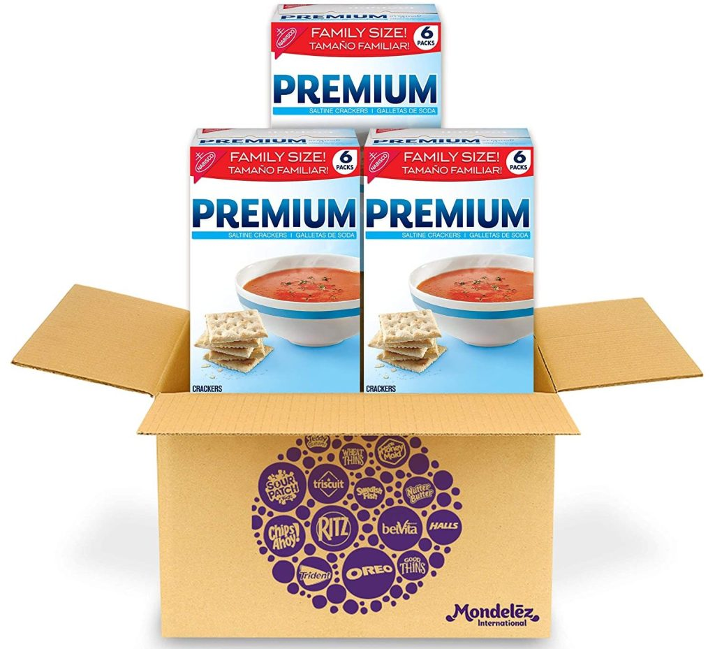 premium crackers in box three boxes
