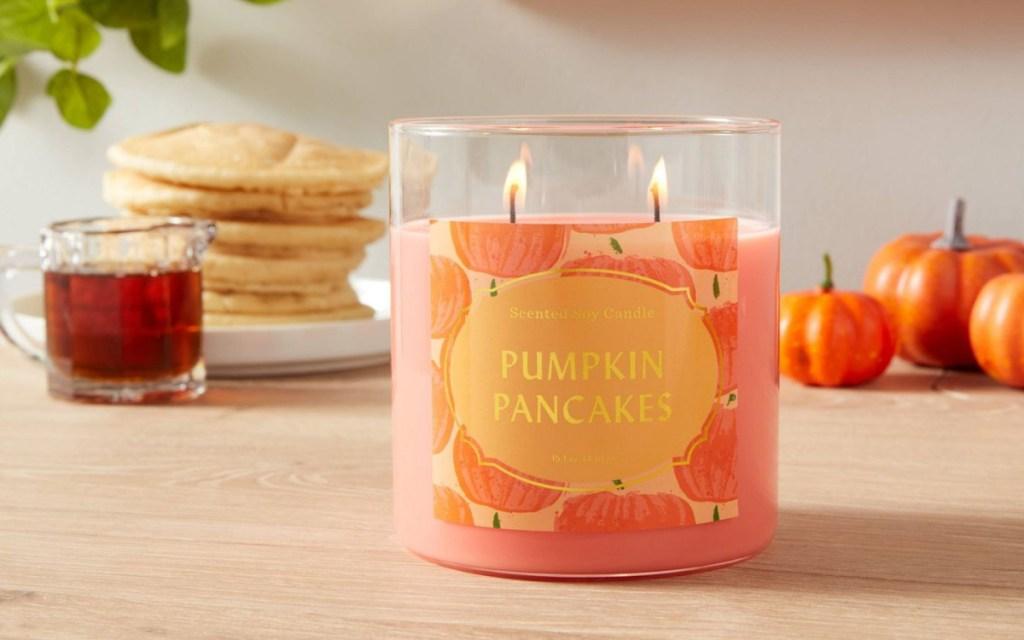 pumpkin pancakes candle