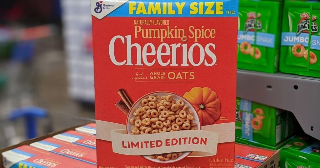 Pumpkin Spice Cheerios on store display