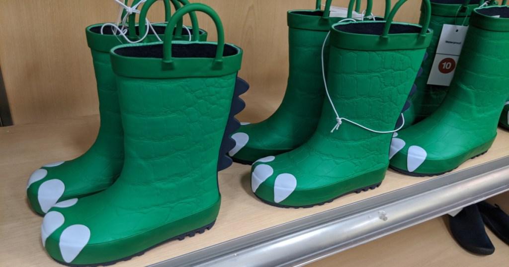 dinosaur rain boots at target