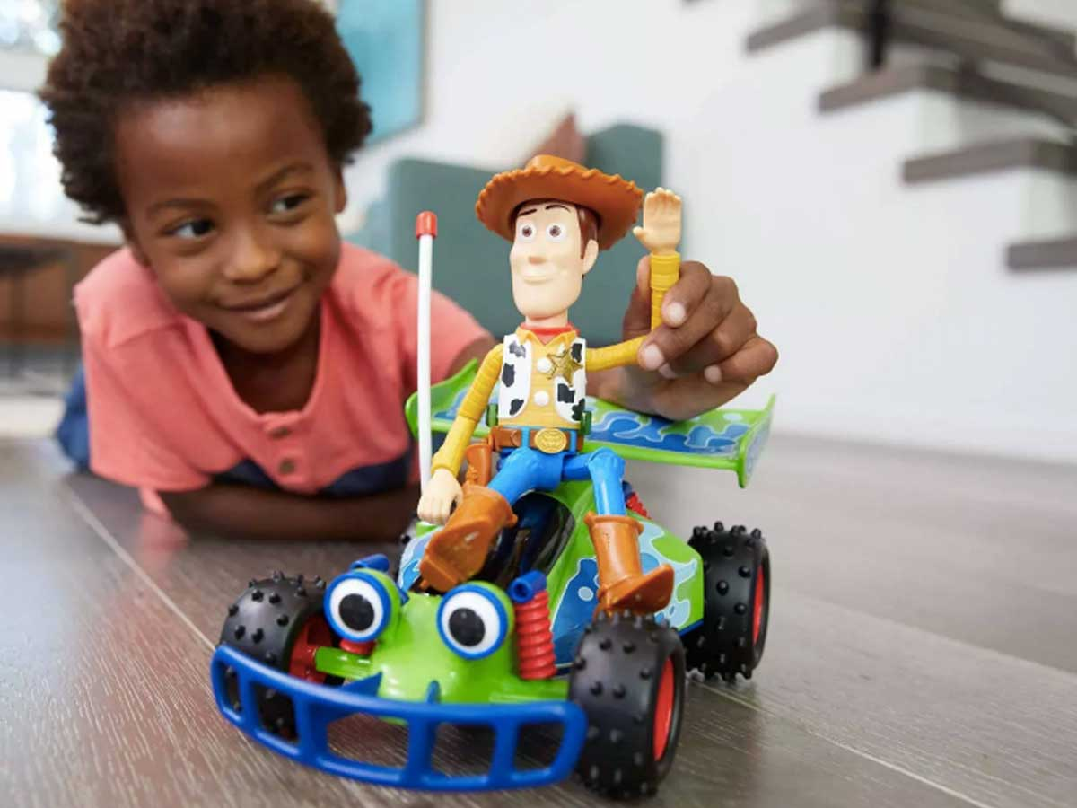 toy story buggy boy playing with