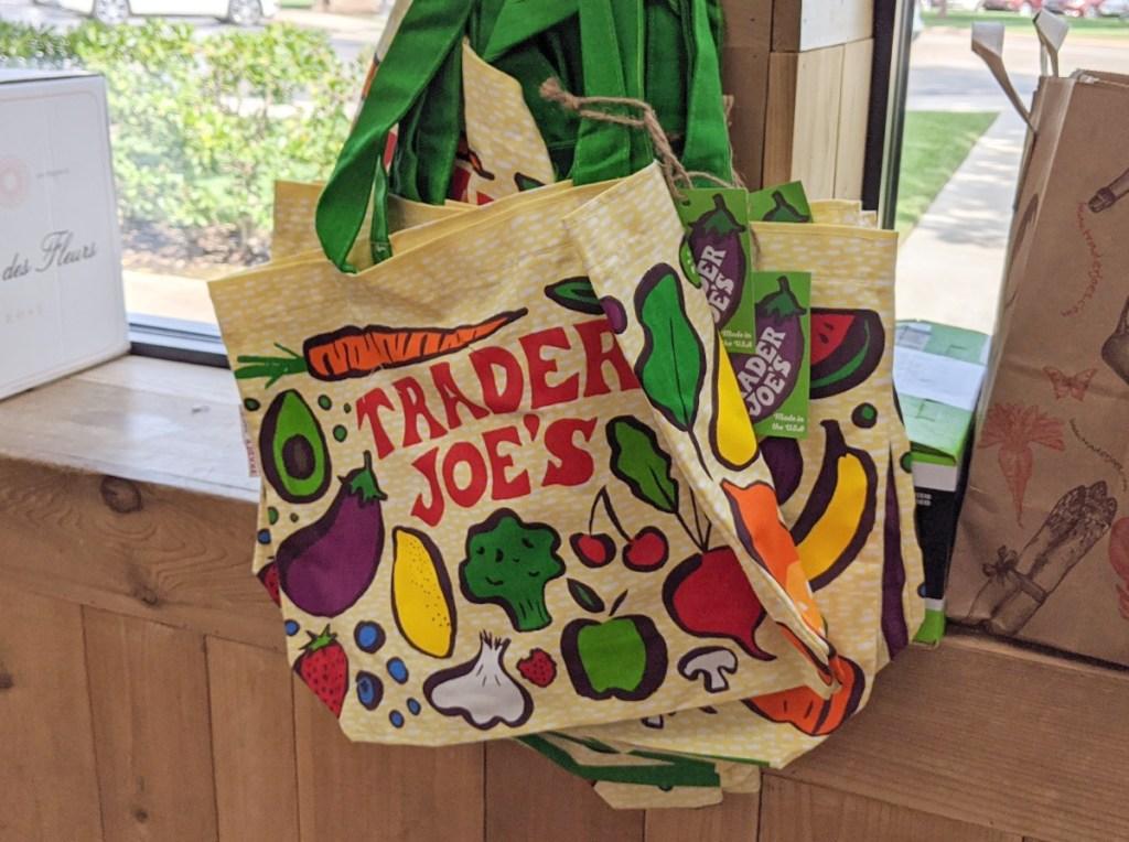 reusable shopping bags at Trader Joe's