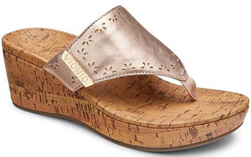 WOMANS thong dressy wedge sandals