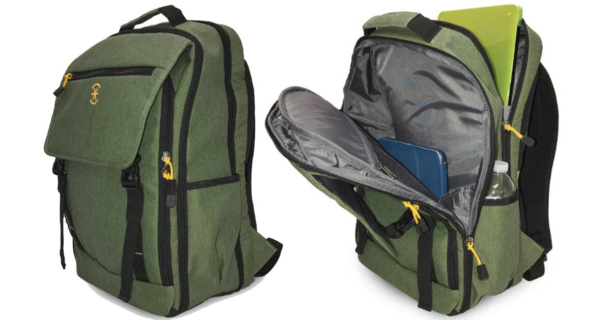 ruck backpack green olive and yellow