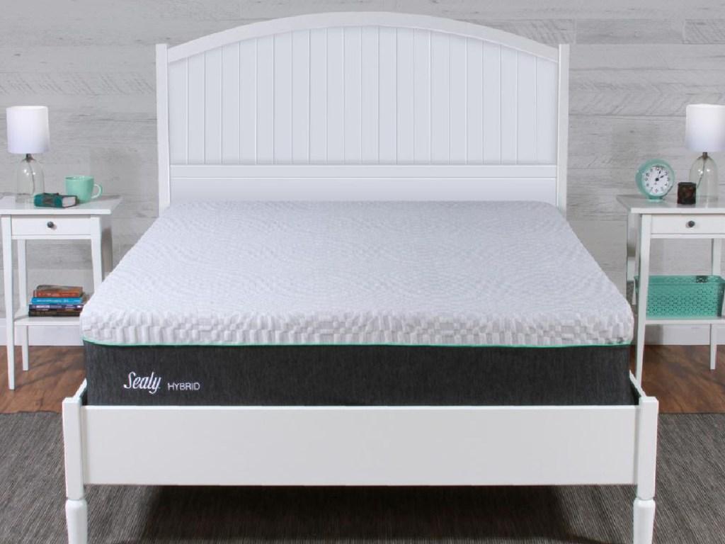 Sealy hybrid mattress in bedroom