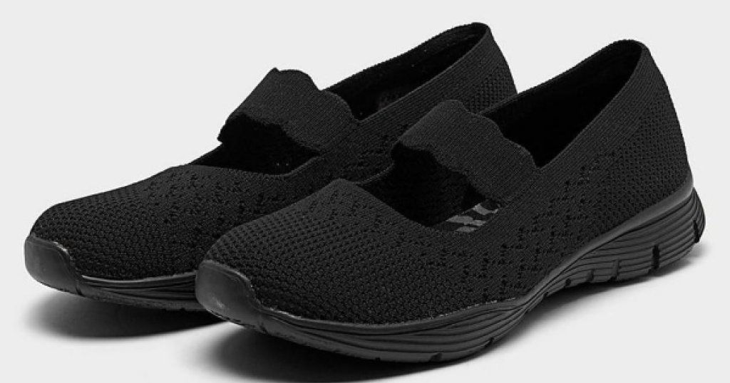 womens black mesh walking shoes