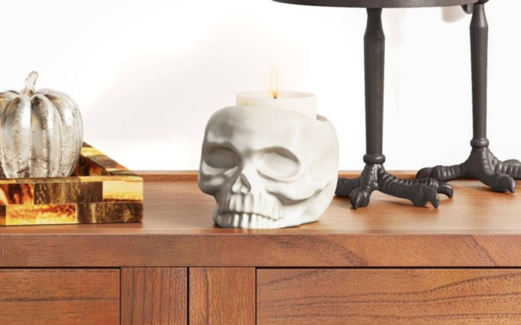 skull candle holder from target