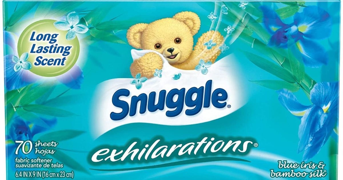 Snuggle brand box of dryer sheets