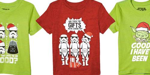 Star Wars Kids Christmas T-Shirts from $6.43 on Amazon