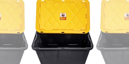 27-Gallon Storage Container w/ Lid Only $6.74 on OfficeDepot.com (Regularly $12)