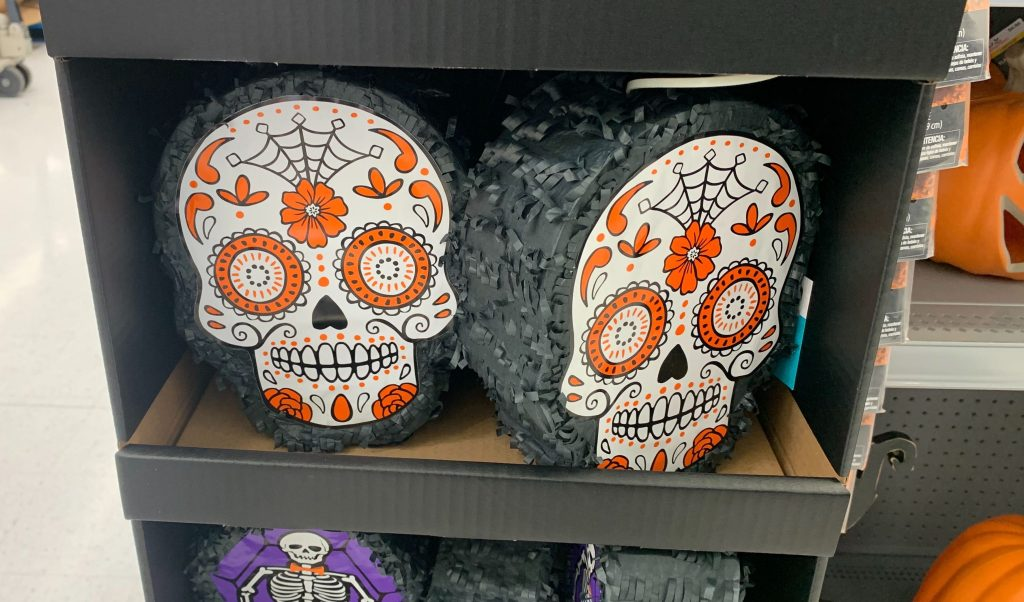 sugar skull pinata at walmart