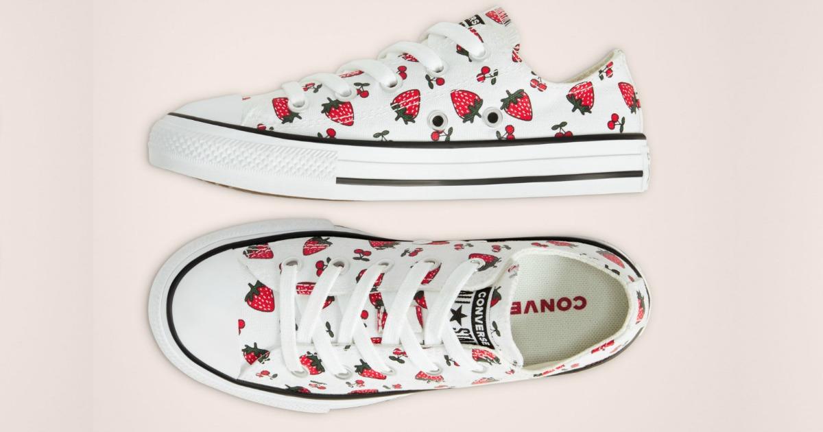 fruit print kids converse shoes