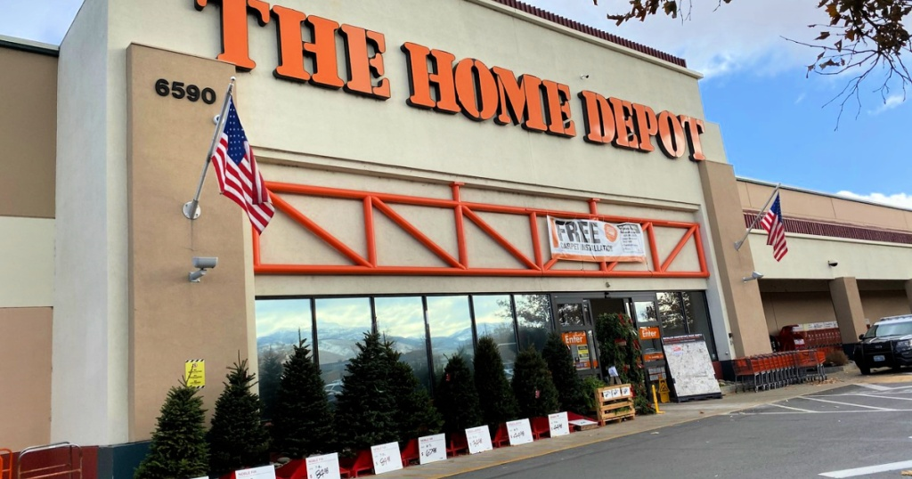 the home depot holiday store front