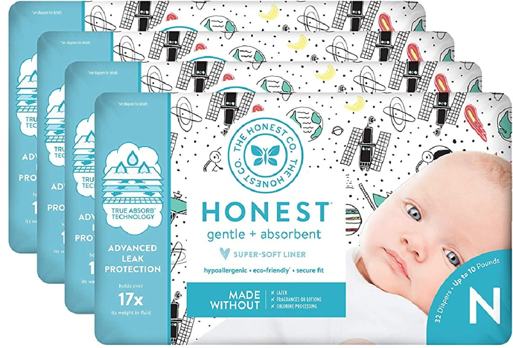 4 packs of the honest company diapers