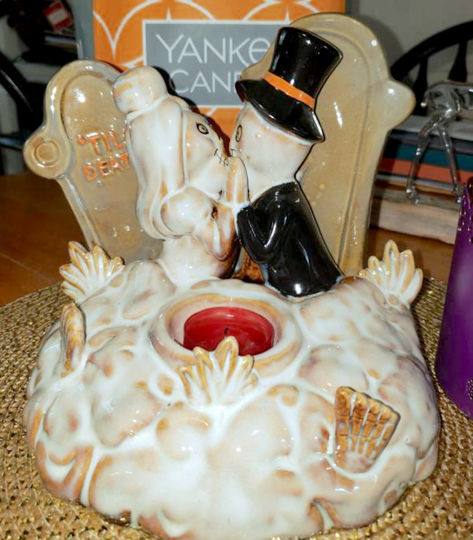 til death do us part yankee candle halloween candle holder